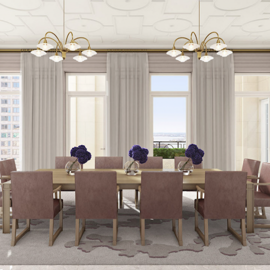 Four Seasons Hotel - Tribeca Apartments For Sale Dining Room