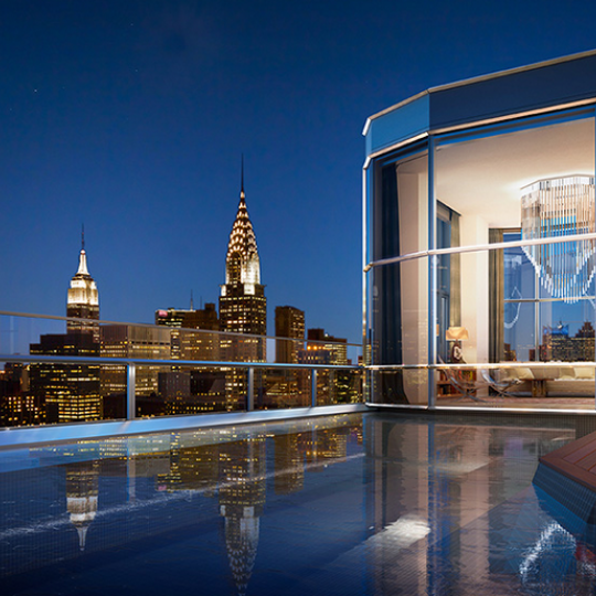Duplex Penthouse private pool- 50 United Nations Plaza-Condos for sale