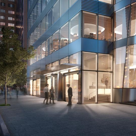Entrance- 50 West Street- condo for sale in Manhattan