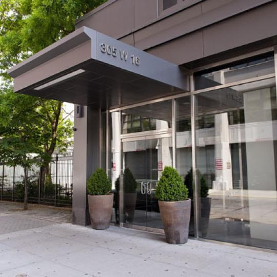 Entrance of 305 West 16th Street  Apartments in Chelsea