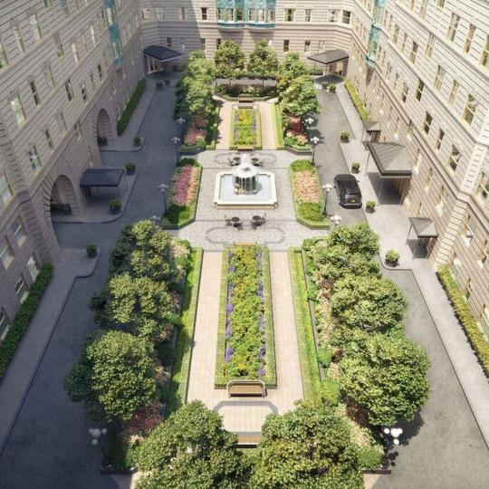 Courtyard Garden at The Belnord - 225 West 86th Street