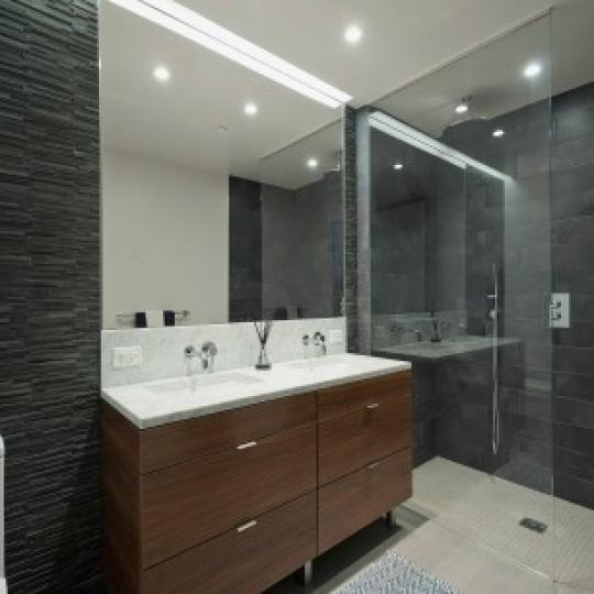 Bathroom with Glass Shower- 205 Water Street