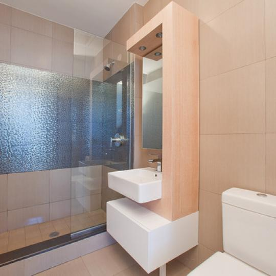 Bathroom with Glass shower- 214 Green Street