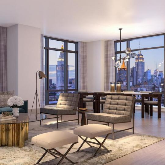 Living Room at The Tower in NYC - Condos for sale