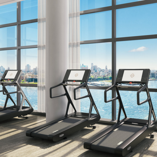 Gym in 1 Seaport with views - Manhattan condos