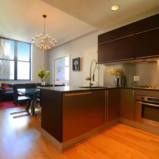 The Hit Factory Kitchen Area - 421 West 54th Street Condos for Sale