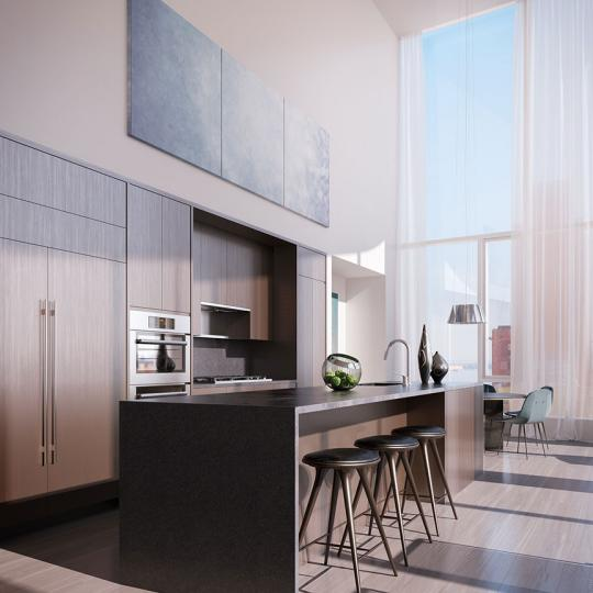 Kitchen-50 West Street- condominiums for sale New York