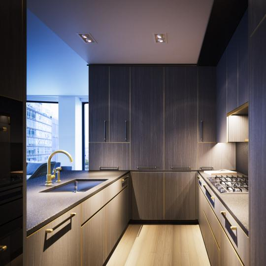 Open Kitchen at 505 West 19th Street in NYC - Condos for sale