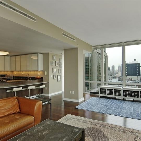 Kitchen & Living Room - 130 West 19th Street - Condos - Chelsea
