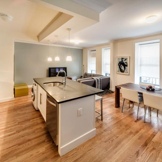 Kitchen/ Living Room- The Strathmore- condo for sale in Harlem