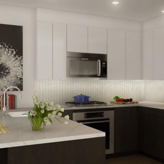 Kitchen in 240 Manhattan Avenue Condominium