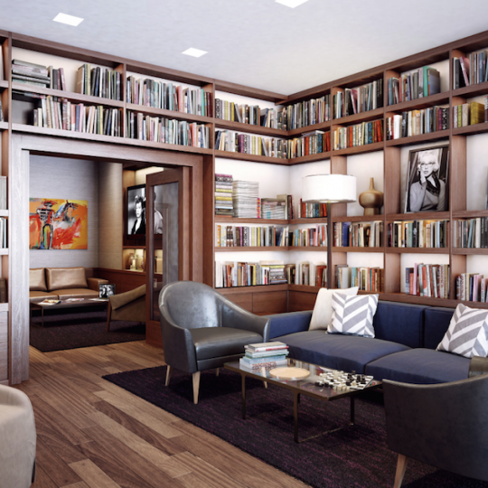 SIXTYFOUR at 300 E 64th Street Study Library Reading Room Apartments for Sale