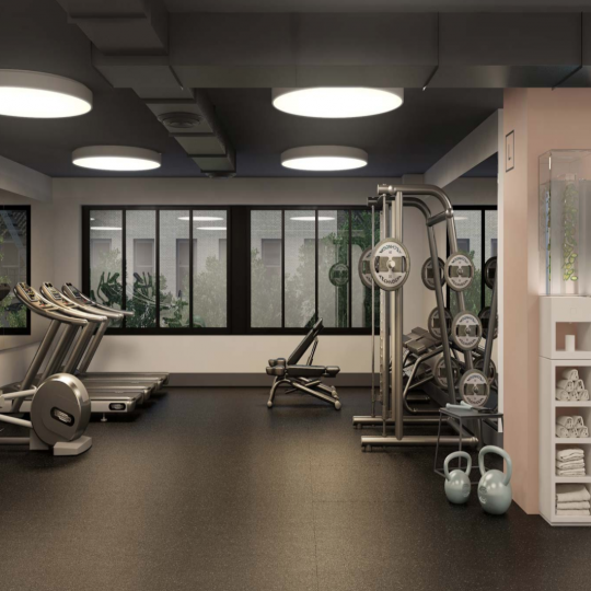 Fitness Center at The Lindley in Manhattan - Condos for sale