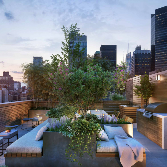 Rooftop Deck at 591 Third Avenue in NYC - Apartments for sale
