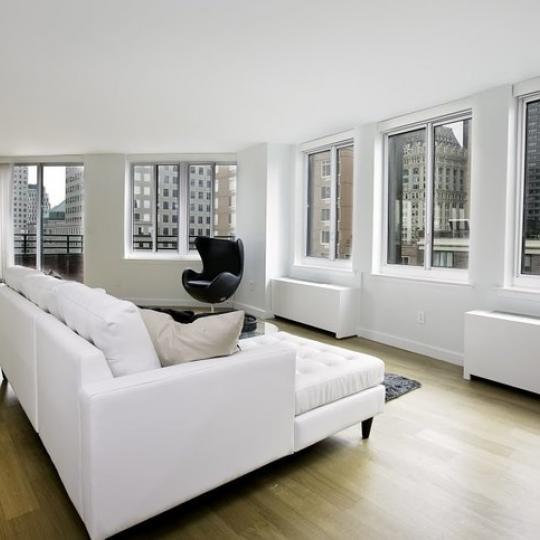 One Rector Park Living Room – Condominiums for Sale NYC