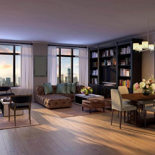 Living Room- 245 West 14th Street- NYC condo for sale