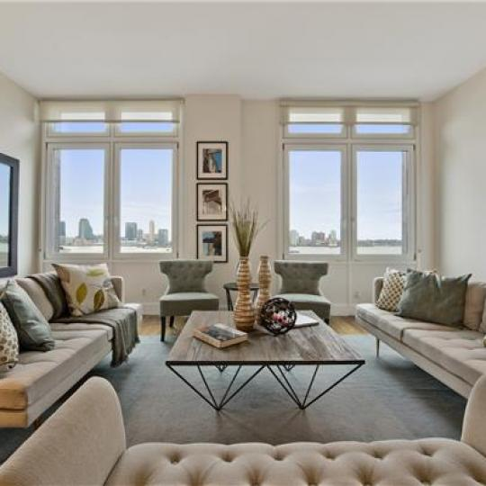 Living Room- 92 Laight Street- condo for sale in Tribeca
