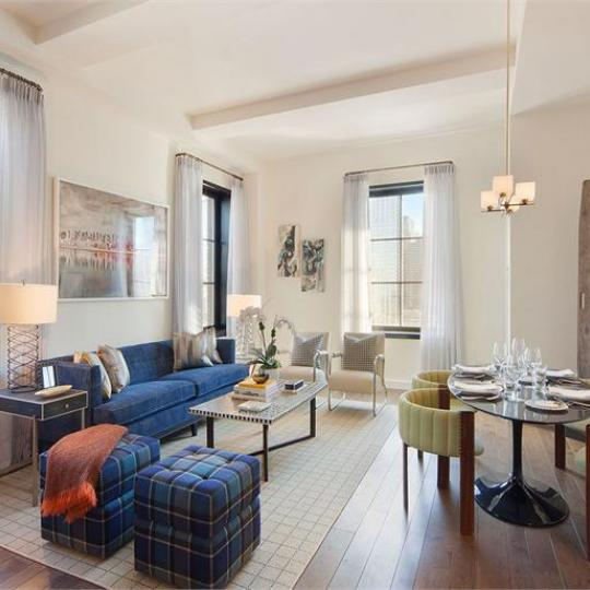 Living Room- 435 West 50th Street- NYC condo for sale
