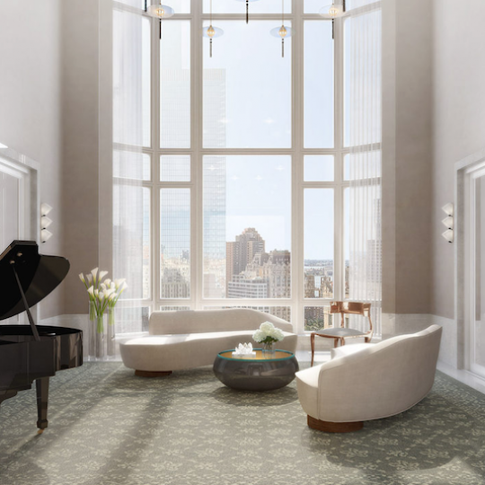Four Seasons Hotel - Tribeca Apartments For Sale Living Room Piano