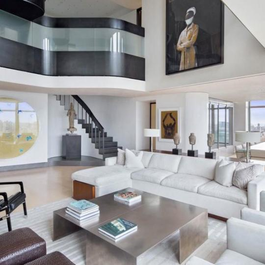 Living room - 15 West 63rd Street- NYC apartments for sale