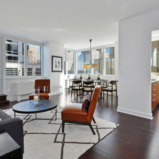 Avery living room - 100 Riverside Apartments for Sale in Upper West Side