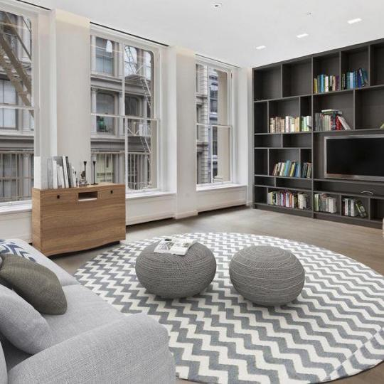 111 Mercer Penthouse living room - Apartments for Sale in New York