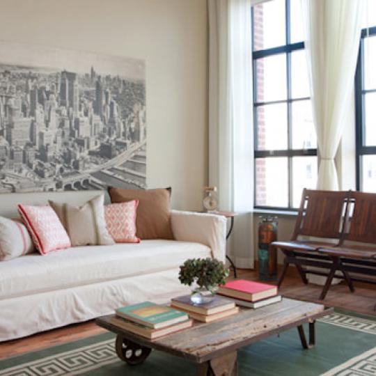 Living Room- 37 Bridge Street- Kirkman Lofts