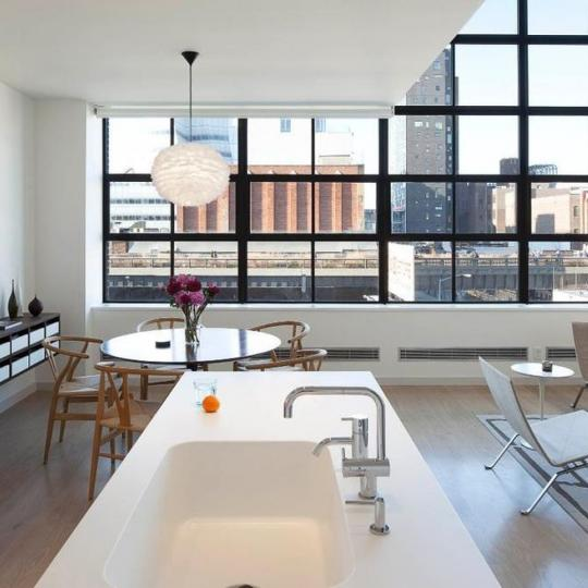 456 West 19th Street Living Room – Manhattan Condos for Sale
