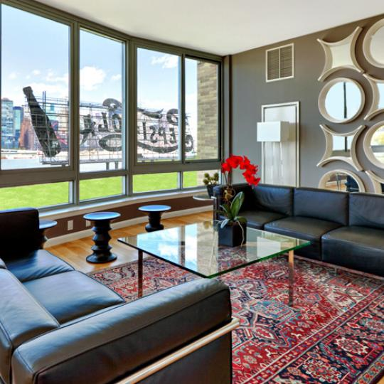 4630 Center Boulevard Living Room - Long Island City Condos for Sale