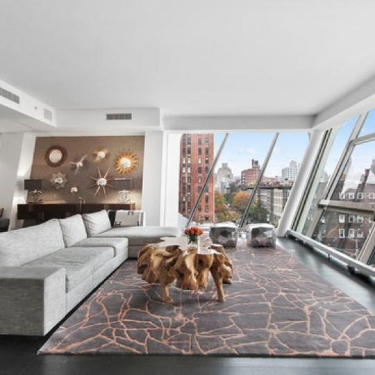 515 West 23rd Street Living Room – NYC Condos for Sale