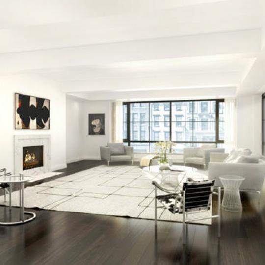 Living Room at 61 Fifth Avenue- Condos for sale in NYC