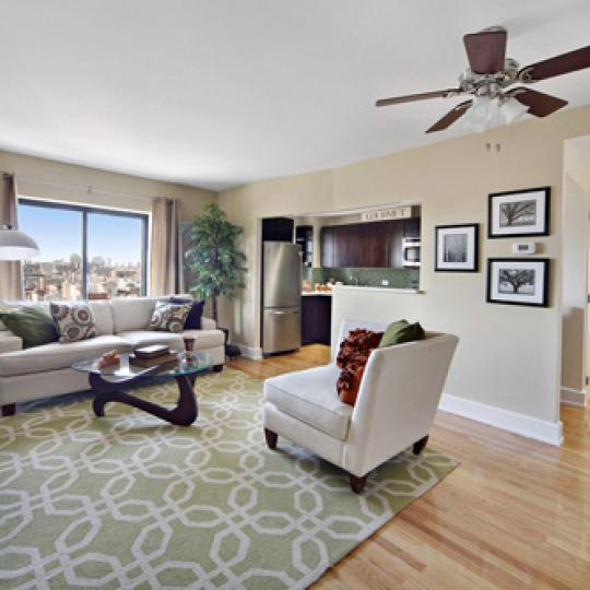 The Shelton - 775 Lafayette Avenue - living room - Manhattan Condos for Sale