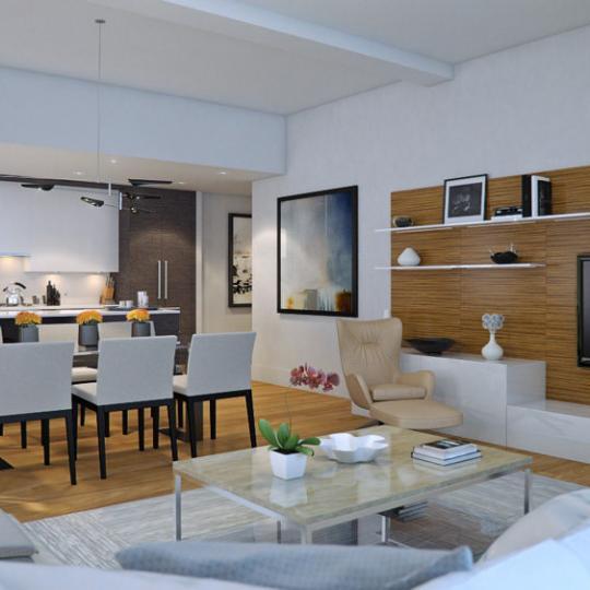 Living Room - 101 Leonard Street - Tribeca