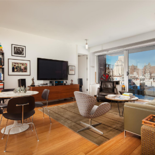 245 West 19th Street- Living Room- NYC condo for sale