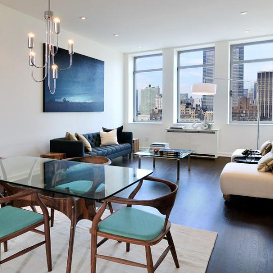 Living Room - NYC - 252 7th Avenue - Luxury Condos in Manhattan