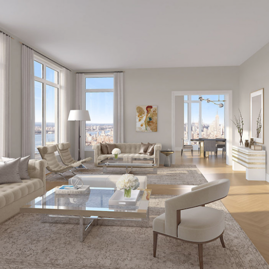 Four Seasons Hotel - Tribeca Apartments For Sale Living Room Luxury