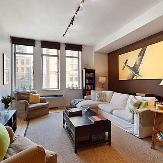 Living Room - Manhattan - Chelsea Mercantile Building - Condominiums