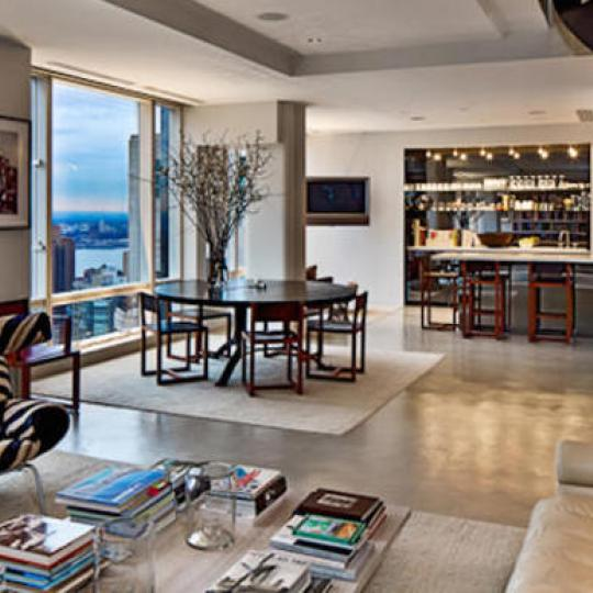Trump International - High Rise Building- Apartments for sale- living room