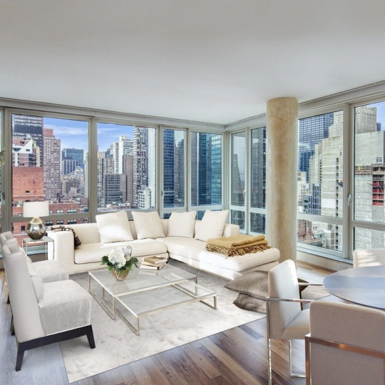 The Veneto 250 East 53rd Street - living room - 250 East 53rd Street