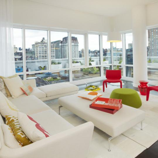 Living room 8 Union Square South - Luxury Condos for Sale in Greenwich Village