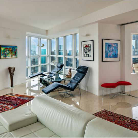 Living Room - 146 West 57th Street Condominiums for Sale