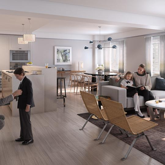 Living and Dining Area - The Carlton House - Upper East Side