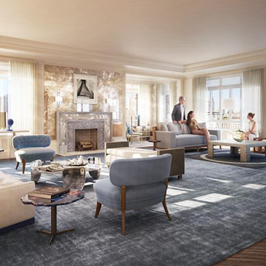 Living Area - The Carlton House - Upper East Side