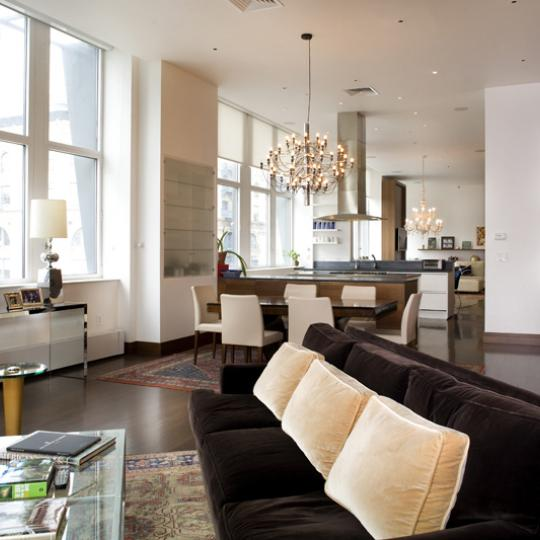 Livingroom at 25 West Houston Street in Soho