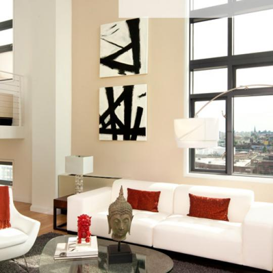 Living-room at L Haus - Apartment for Sale in LIC