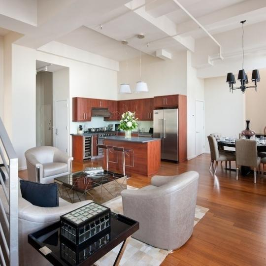 Belltel Lofts Livingroom - Apartments for Sale in Brooklyn
