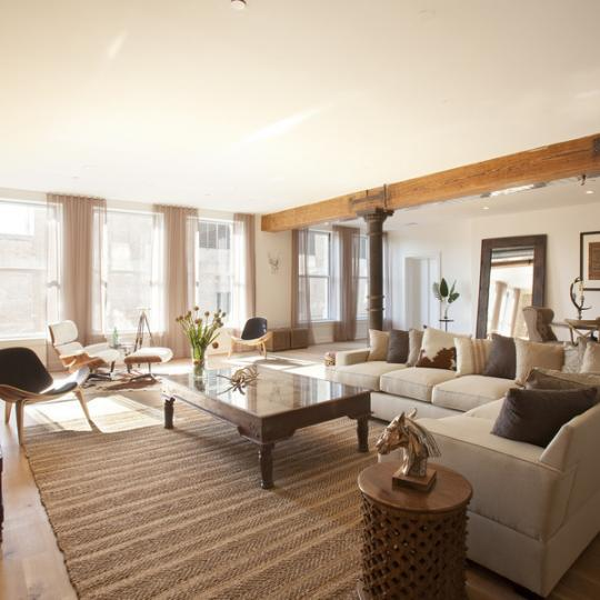 Living & Dining Area - 481 Washington Street - Condos - Tribeca