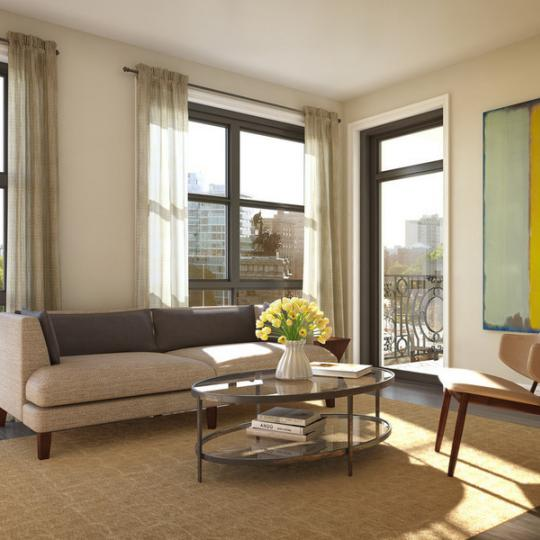 Living Room at Park Union - Park Slope Apartments for Sale