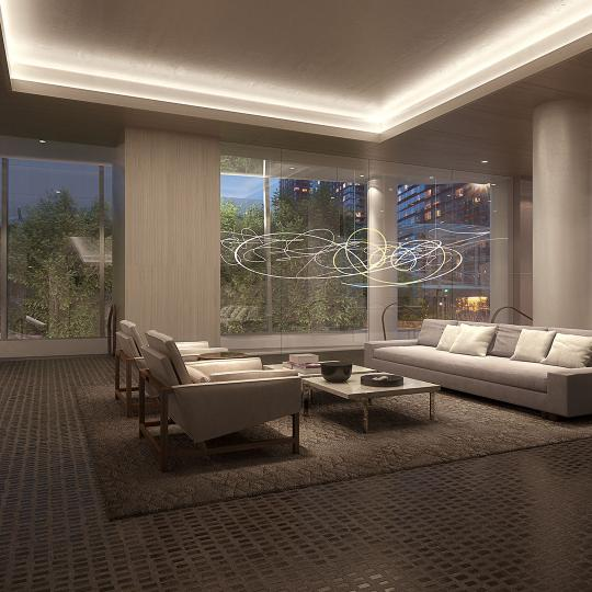 Lobby- 50 West Street- NYC condominiums for sale