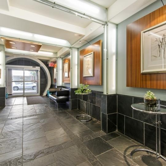 The Building's lobby at 123 Baxter Street  in Little Italy